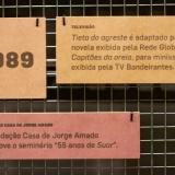 Montagem exposição Jorge Amado