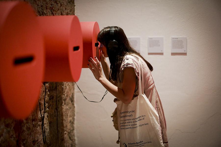 Casa Hilda Hilst, visores para vídeo. Foto: Francio de Holanda